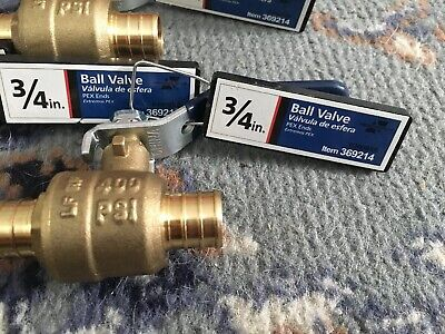 American Valve 34 Pex Ends Ball Valve 14 Turn Brass 400 Psi Price Is For 1