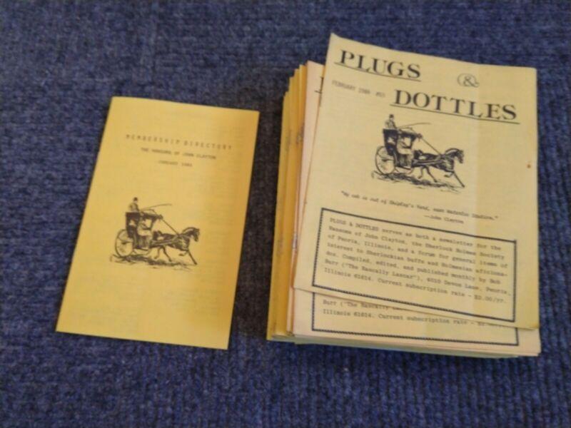 Plugs & Dottles 1984-1991 Sherlock Holmes Fan Club Zine Huge LOT Bob Burr