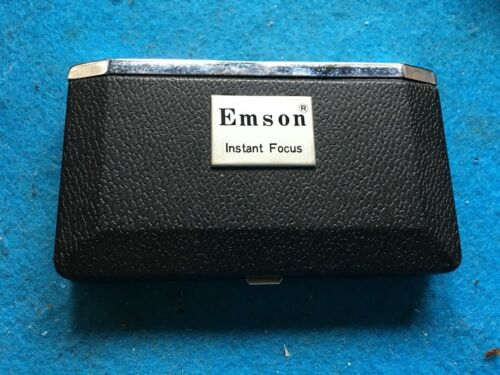 VINTAGE EMSON INSTANT FOCUS BINOCULAR-USED-FOLDING-EASY CARRY-COMPACT-COLLAPSIBL