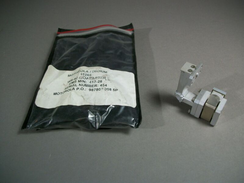 Motorola 417-28 Iridium WR-42 Waveguide Isoadapter - NEW