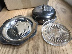 Silver pieces  includes Viking Plate and Wm Rogers