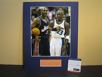 1b45820f0 KARL MALONE (HOF/10) SIGNED AUTOGRAPHED CUT & MATTED 8X10 PHOTO UTAH JAZZ  PSA