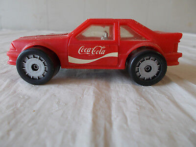 VINTAGE-1987 Coca Cola Car by REMCO TOYS-Clear Windows-Silver Undercarriage