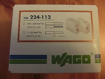 50 Stck. Wago-Leuchtenklemme, Verbindungskl. 224-112 - 0,5-2,5 mm²