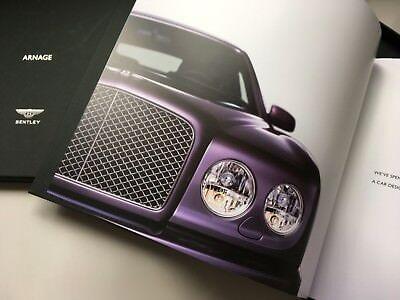 BOXED - Bentley Arnage & Mulliner Brochure - T /R /RL ENGLISH VERSION