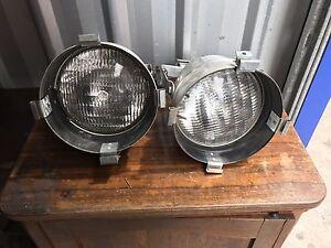 A pair Vintage metal flood industrial lights Dundas Parramatta Area Preview