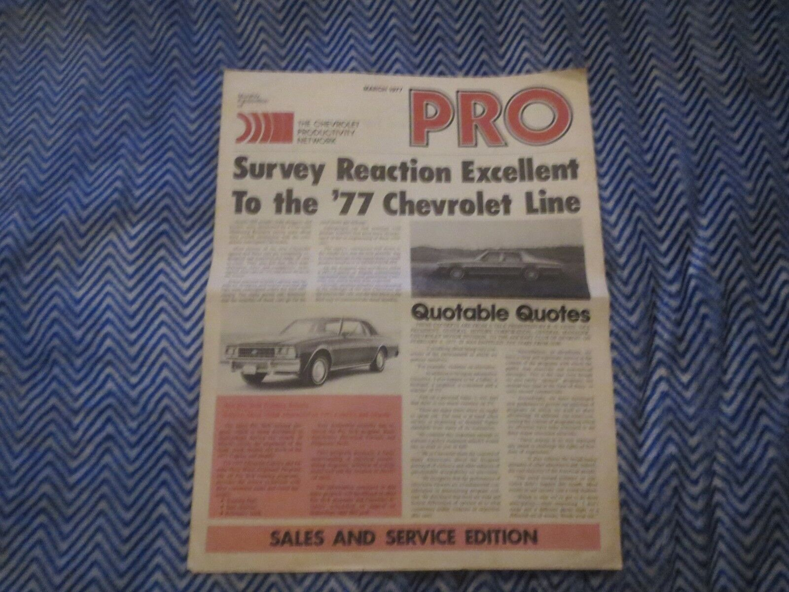 1977 CHEVROLET CAPRICE IMPALA AND STATION WAGONS PRO DEALER MAGAZINE BROCHURE