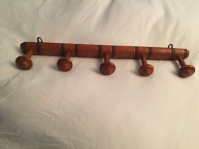 Vintage French Faux Bamboo Coat Hanging Rack