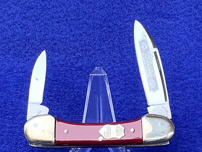 Vint. THREE EYE CARL SCHLIEPER GERMAN EYE BRAND BUTTERBEAN CANOE KNIFE SOLINGEN