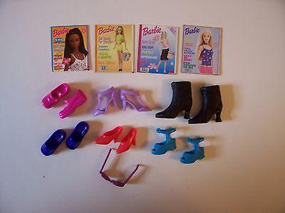 Barbie Fashion Avenue etc 2000s shoes magazines sunglasses boots large lot