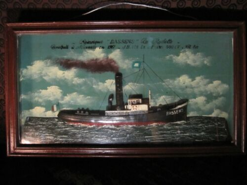 Rare 1917 Tug Boat Shadow Box - Model