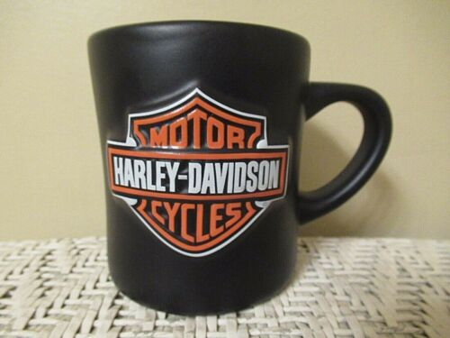 HARLEY DAVIDSON  Motorcycle Mug Cup  Matte Black  Raised Logo Official Licensed