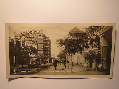 PORT SAID BOULEVARD EUGENIE AND EASTERN ECHANGE HOTEL GYPTEN FOTO KARTE