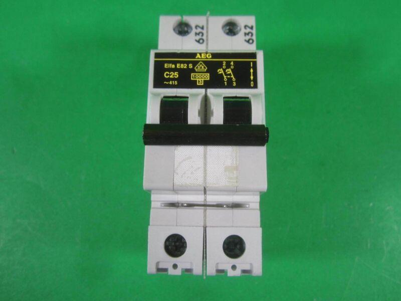 AEG Elfa E82S Circuit Breaker -- C25 -- Used