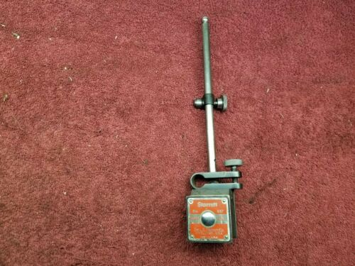 Starrett No. 657 magnetic base with Rod & Clamp