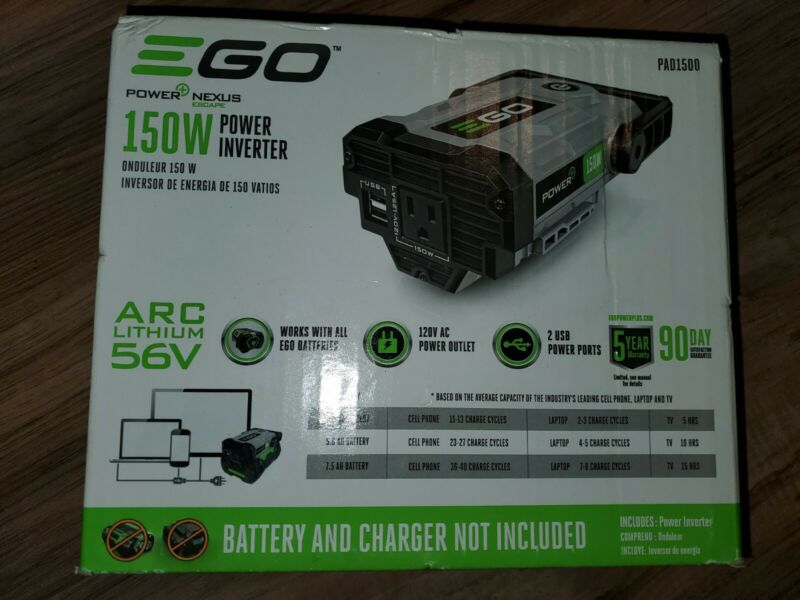 EGO 56V PAD1500 150W Battery Power Generator Inverter 2 USB Ports FAST SHIPPING