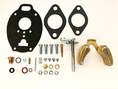Massey Ferguson Marvel Schebler Carburetor Kit W Shaft Float - 65 165 175 180