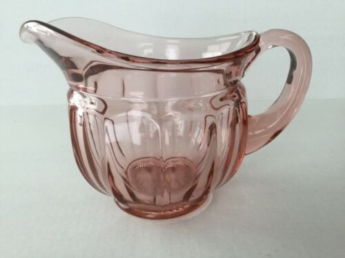 "Elegant Glass Imperial Old Williamsburg 6"" 40 oz Pink Pitcher"