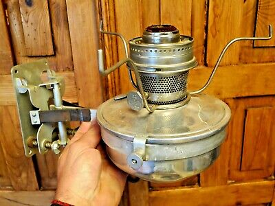 Antique Alladin 23 Wall Mount Railroad / Train Caboose Kerosine Lantern Oil Lamp