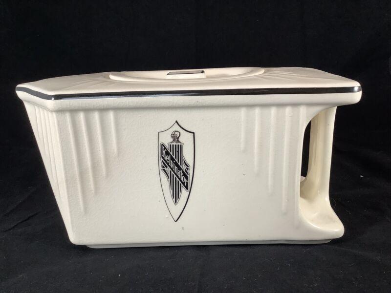 Vintage Art Deco Porcelain Ceramic Kelvinator Refrigerator Fridge Water Pitcher