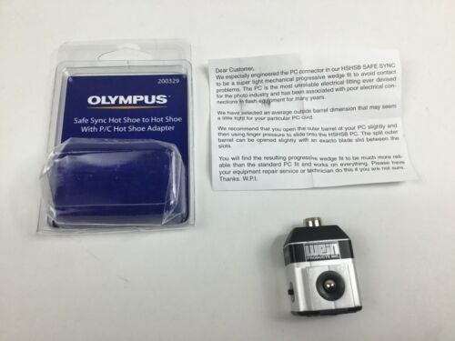 Olympus Hot Shoe to Hot Shoe Safe Sync Adapter HSHSB w/ PC Sync 200329 Wein