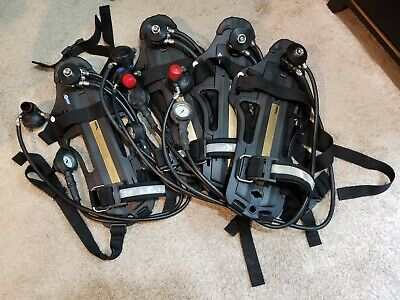 Drager Scba Harness With Regulators Lot Of 4 - 3000psi