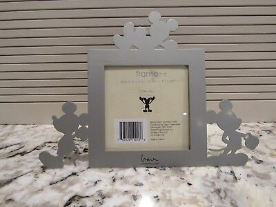 MICKEY MOUSE METAL PHOTO FRAME TARGET HOME WALT DISNEY 4x4 PICTURE SILVER - Mickey Mouse Frame
