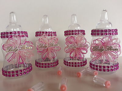 12 Pink Fillable Bottles for Baby Shower Favors Prizes or Games Girl - Prizes For Baby Shower Games