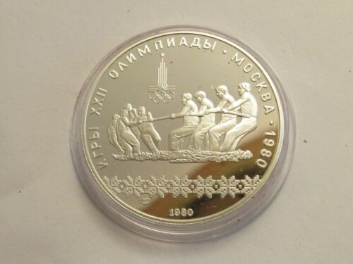 1980 Russia Moscow Olympics, 1980 Proof Silver 10 Roubles, Tug of War
