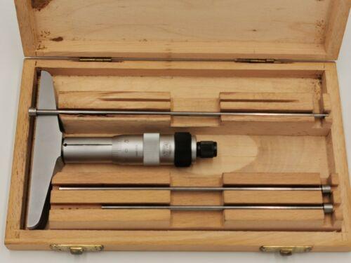 Mauser Tiefenmikrometer / Tiefenmessschraube 0-100mm