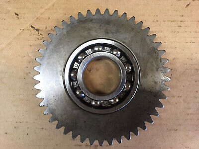 45 Tooth Idler Gear And New Bearing For Galfre Frd Rhino Dm7 - Dm9 Disc Mowers