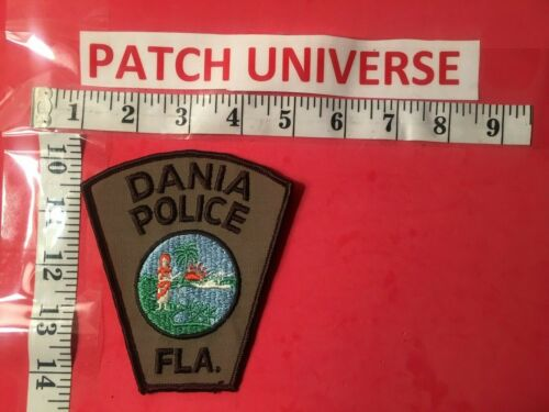VINTAGE DANIA FLORIDA  POLICE SHOULDER PATCH J129