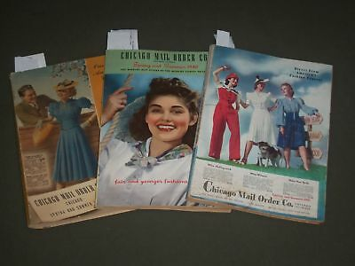 1939-1941 CHICAGO MAIL ORDER CO. CATALOGUES LOT OF 3 - FASHION ILLUS. - O 2651