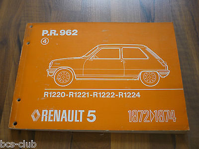RENAULT 5 R5 ab 1972 original ERSATZTEIL KATALOG ETK 4.A. WERKSTATT HANDBUCH ()