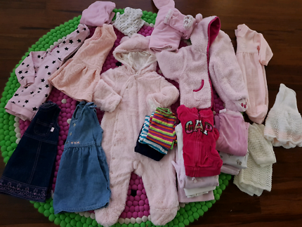 Baby girls size 00-0 Winter clothes bundle