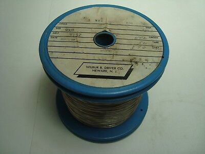 Nos Wilbur B Driver Nickel 205 Round .018 Wire 3.9 Lbs Spool