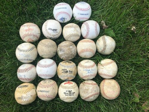 "Lot of (21) Diamond, Worth, Dudley, Cooper - White 12"" Training Softballs GC"