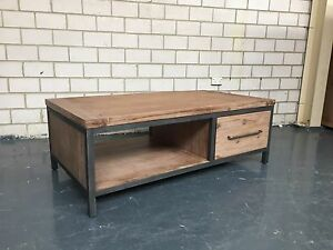 INDIANA - COFFEE TABLE - SOLID TIMBER WITH METAL FRAME Leumeah Campbelltown Area Preview