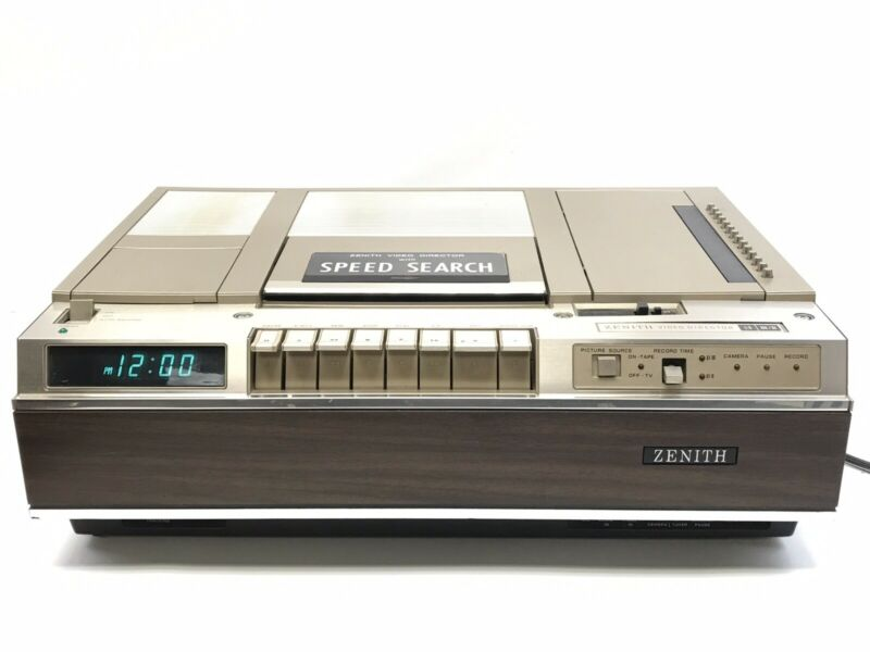 Zenith Betamax Programmable Video Director VCR Cassette Recorder III/II VR 9000W