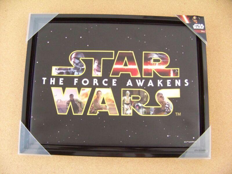 """Star Wars The Force Awakens printed design stretched over frame & framed 14""""x18"""""""