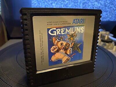 Atari 5200 Gremlins Video Arcade Game Videogame Cartridge Tested/Works