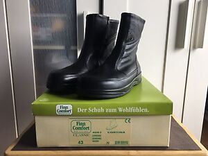 Finn Comfort CORTINA 4001 Black Size 10 Leather Black Shoes