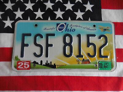 US OHIO FARM FSF 8152 AUTO CAR KENNZEICHEN NUMMERNSCHILD PLATE SCHILD DEKO USA I