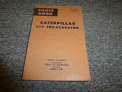 Caterpillar Cat 977 Traxcavator Crawler Loader Parts Catalog Manual 20a1-20a4222