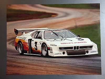 Picture Awesome L@@K Poster RARE! 1980 BMW 320i Turbo Coupe Race Car Print
