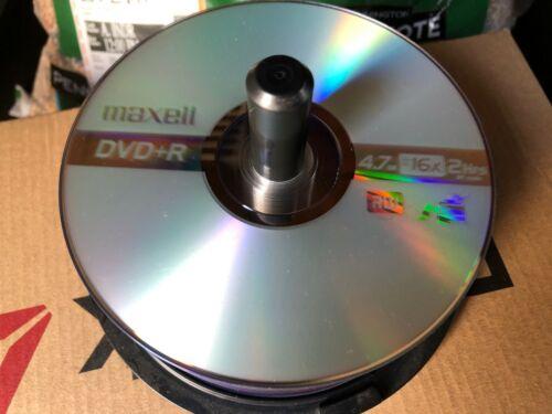 Lot of 35! New! Maxell DVD+R 16X Branded Disc Blank Media 4.7GB / 120Min!