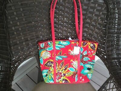 Vera Bradley SMALL TRIMMED VERA purse, overnight bag in Rumba, tote