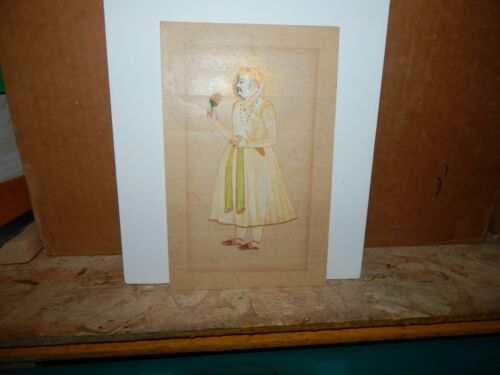 Antique India Miniature Painting of Mughal Emperor Jahangir