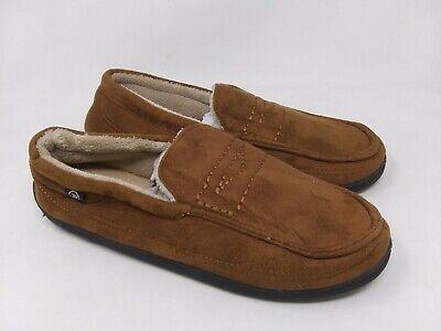 New!! Men's Isotoner Mock Penny Loafer Slipper 22605 Tan 21Z