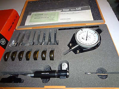 Mitutoyo Dial Bore Gauge Set 526-152 Metric 3.7-7.3 Mm .001extra Small Holes New